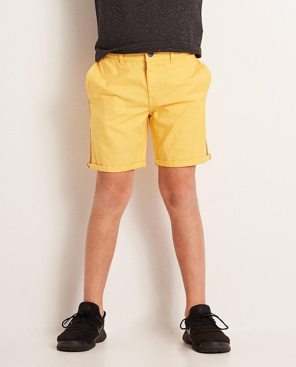 Shorts - Ockergelb - Shorts mit Streifen, 7-14 Jahre